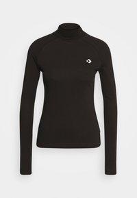 Converse - MOCK NECK LONG SLEEVE  - Long sleeved top - black - 0