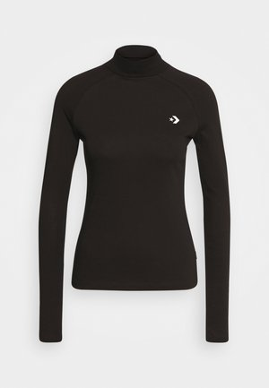MOCK NECK LONG SLEEVE  - Long sleeved top - black