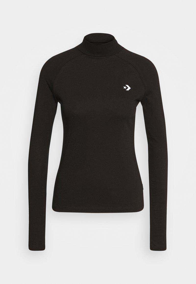 Converse - MOCK NECK LONG SLEEVE  - Long sleeved top - black