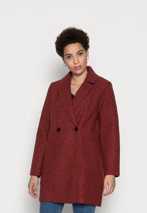 EASY BOUCLE COAT - Classic coat - dark maroon red