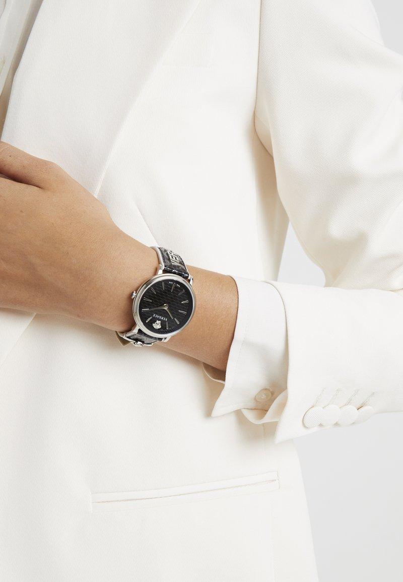 Versace Watches - CIRCLE LOGOMANIA EDITION - Watch - black