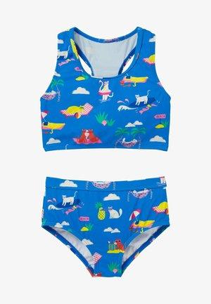 SET  - Bikini - marokkoblau katzen im sommerurlaub