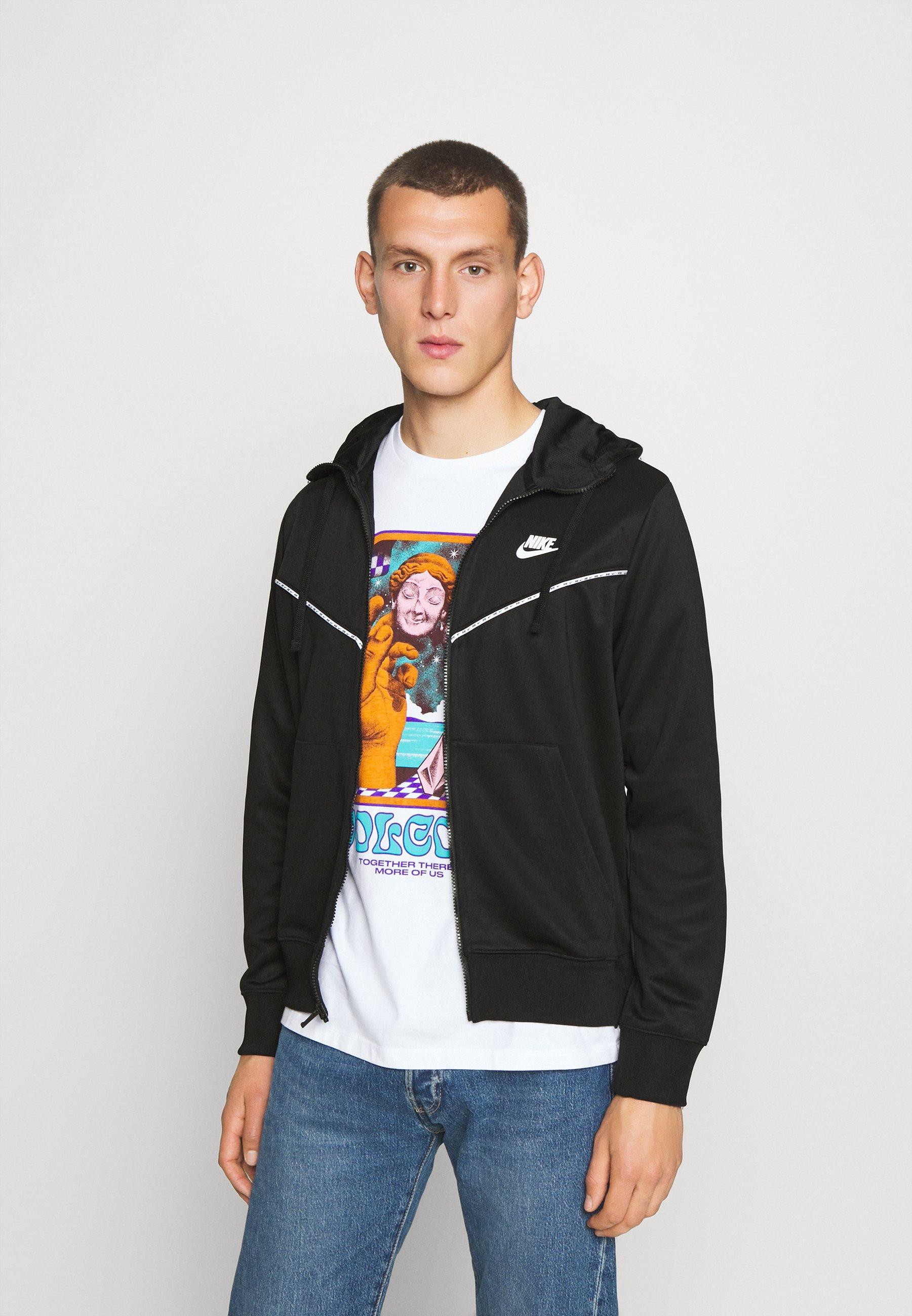 Fast Express Outlet Men's Clothing Nike Sportswear REPEAT HOODIE Zip-up hoodie black xd4e9fJNo DUcuJbfm0