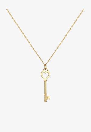 SCHLÜSSEL HERZ LIEBESSCHLÜSSEL - Necklace - gold