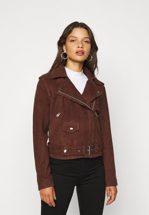 OBJNANDITA JACKET SEASONAL  - Skinnjakke - chicory coffee