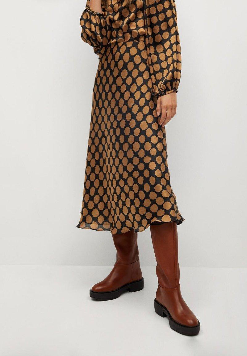 Mango - SABI - A-line skirt - karamell