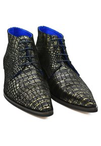 Fertini - Lace-up ankle boots - black croco - 2