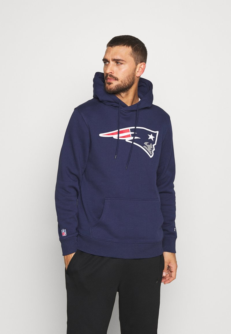 Fanatics - NFL NEW ENGLAND PATRIOTS ICONIC PRIMARY LOGO GRAPHIC HOOD - Bluza z kapturem - navy