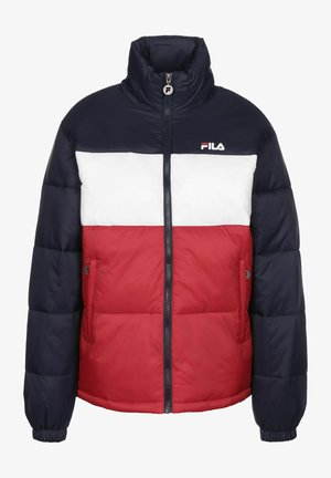 Winter jacket - bl iris/true red/br white