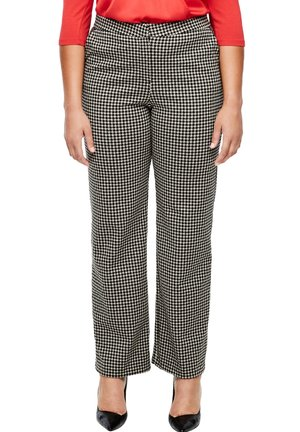 Chinos - black houndstooth