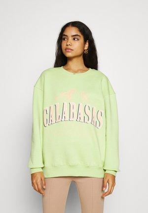 CALABASAS GRAPHIC OVERSIZED - Sweatshirt - mint