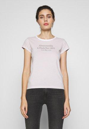 LONG LIFE LOGO - T-shirt imprimé - white