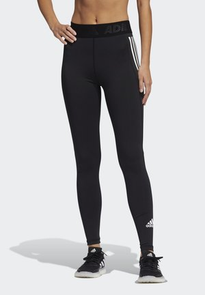 TECHFIT 3-STRIPES LONG TIGHTS - Leggings - black/white