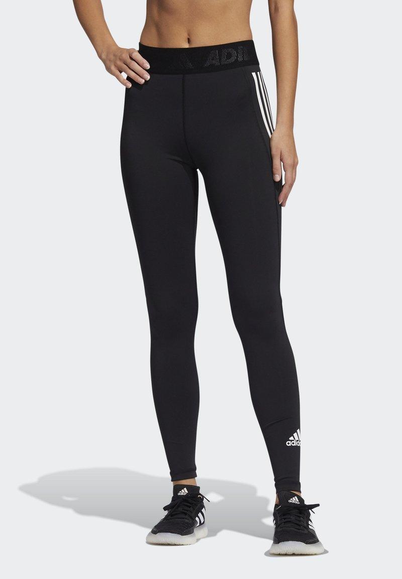 adidas Performance - TECHFIT STRIPES LONG - Medias - black/white