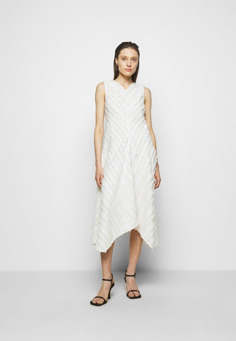 Proenza Schouler White Label - FRINGE FIL COUPE DRESS - Vapaa-ajan mekko - cream