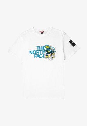 BLACK BOX GRAPHIC - Camiseta estampada - weiss
