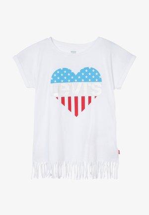 FRINGE - T-Shirt print - white
