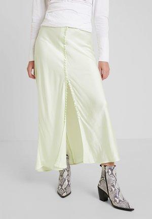 SUPREME LONG SKIRT - Maxi skirt - pastel lime