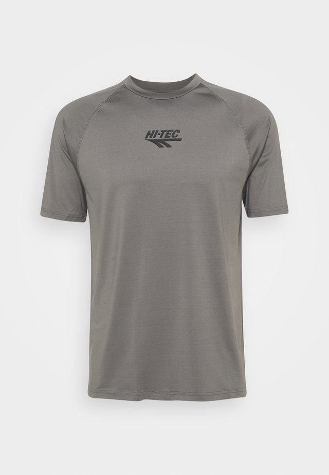 THOMAS BASIC LOGO TEE - T-shirt imprimé - pewter