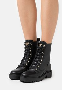 Guess - OLINIA - Lace-up ankle boots - black - 0