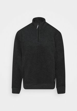 ALTO HALF ZIP RED ILLUSION - Fleece jumper - true black