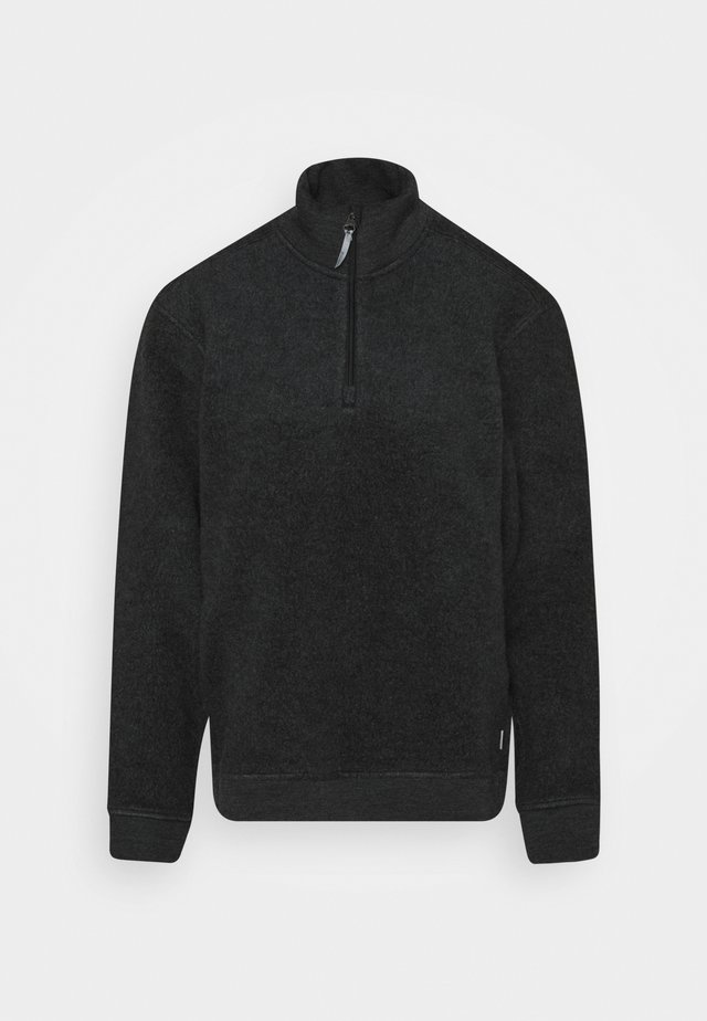 ALTO HALF ZIP RED ILLUSION - Sweat polaire - true black