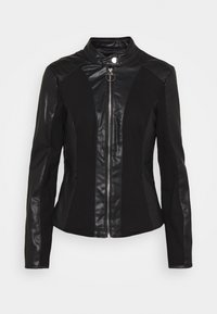 Guess - CLOTILDE JACKET - Faux leather jacket - jet black - 0