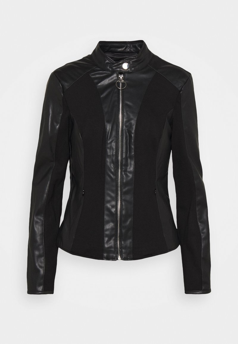 Guess - CLOTILDE JACKET - Faux leather jacket - jet black
