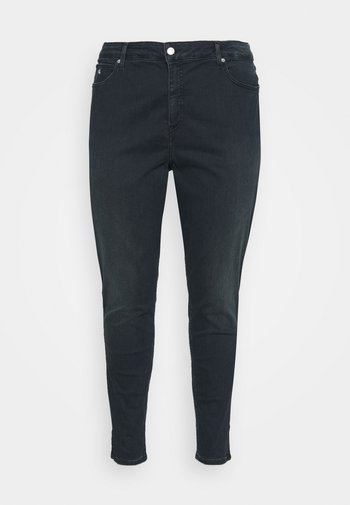 HIGH RISE ANKLE - Jeans Skinny Fit - dark-blue denim