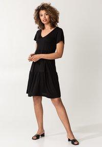 Indiska - HILMA - Jersey dress - black - 1
