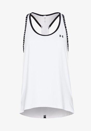KNOCKOUT TANK - Sports shirt - white/black