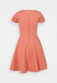 Closet - CAP SLEEVE SKATER DRESS - Day dress - dusty pink - 1