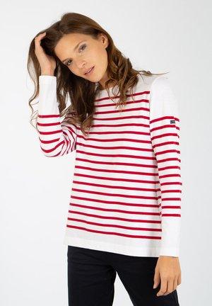 ARSENAL MARINIÈRE - T-shirt à manches longues - blanc/braise