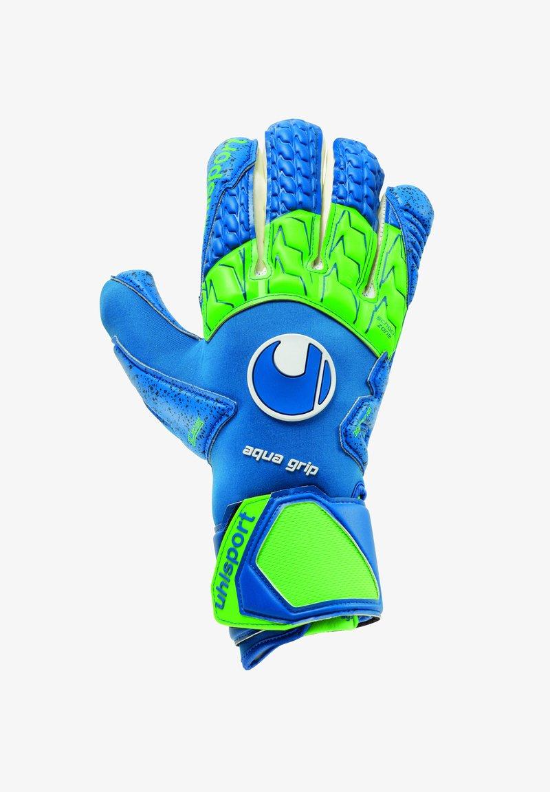 uhlsport - Goalkeeping gloves - pacific blau/fluo grün/we
