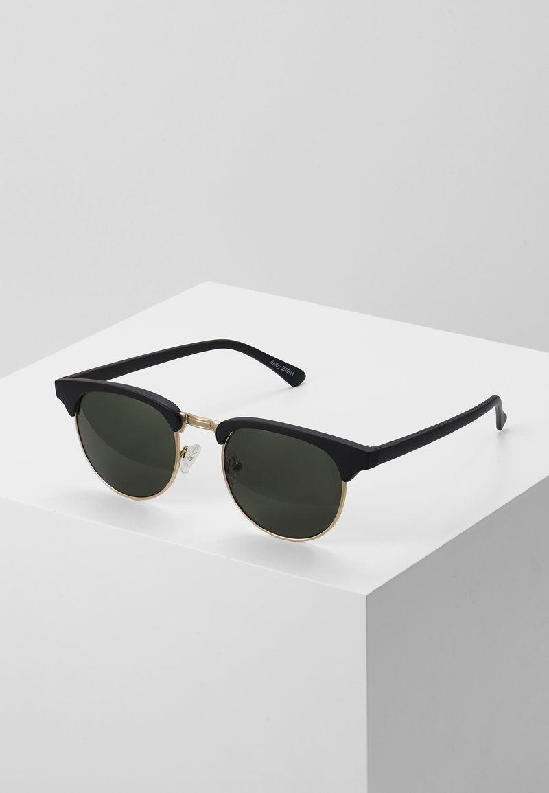 Zign - UNISEX - Sunglasses - black/green