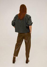 Mango - BROKEN - Button-down blouse - khaki - 2