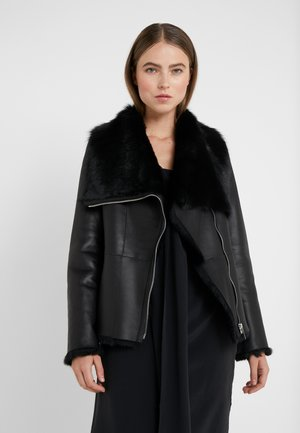 PHILIPPA JACKET - Kožená bunda - black