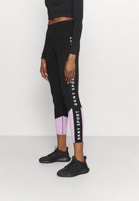 DKNY - HIGH WAIST LEGGING  - Leggings - lilac - 0