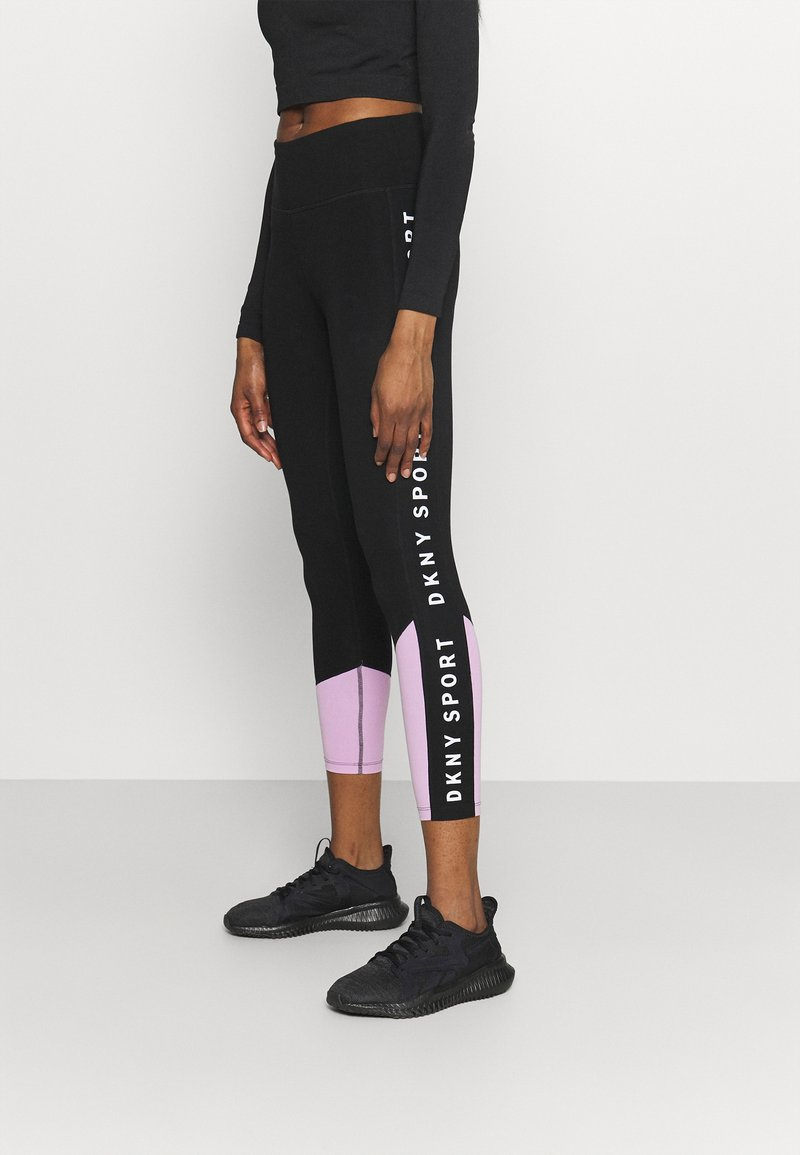 DKNY - HIGH WAIST LEGGING  - Leggings - lilac