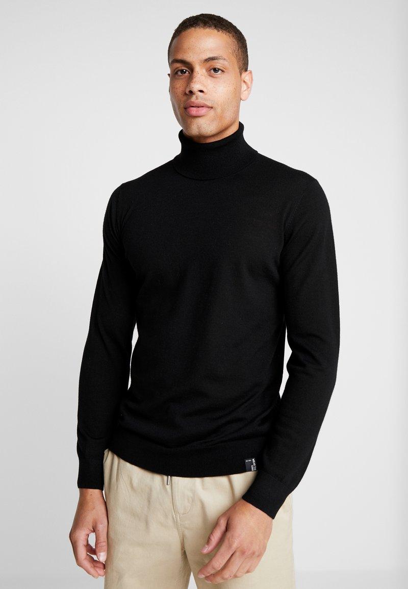 INDICODE JEANS - KERWI MERINO  - Stickad tröja - black