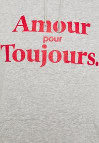 Les Petits Basics - HOODIE AMOUR POUR TOUJOURS - Hoodie - grey/red - 2