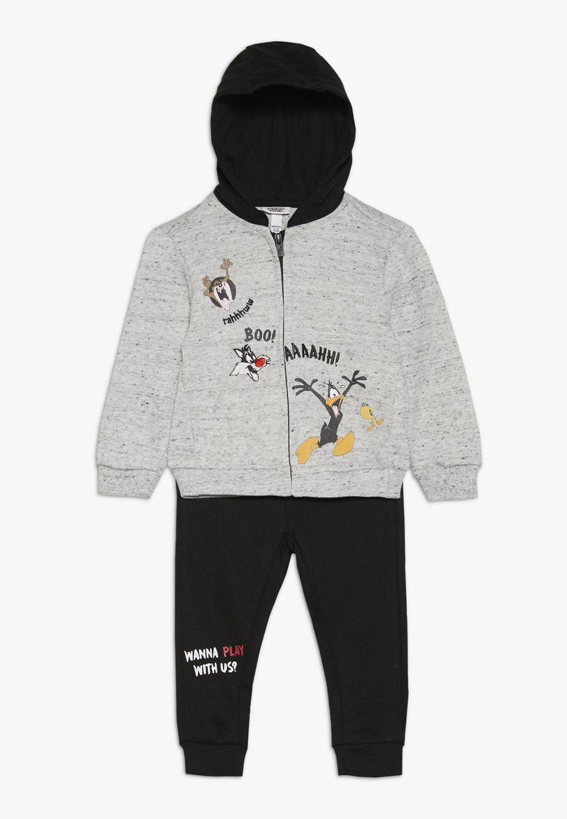 OVS - BABY LOONEY TUNES ZIP SET - Huvtröja med dragkedja - gray dawn