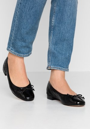 LEATHER BALLET PUMPS - Bailarinas - black