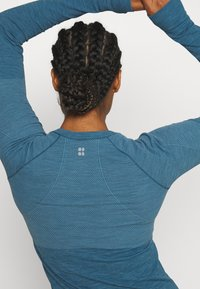 Sweaty Betty - ATHLETE SEAMLESS WORKOUT - Sports shirt - stellar blue - 4