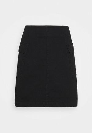 SKIRT PIXIE - Denim skirt - black