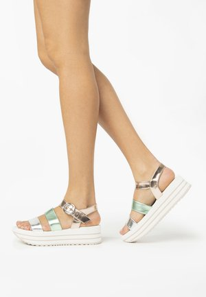 Platform sandals - argento