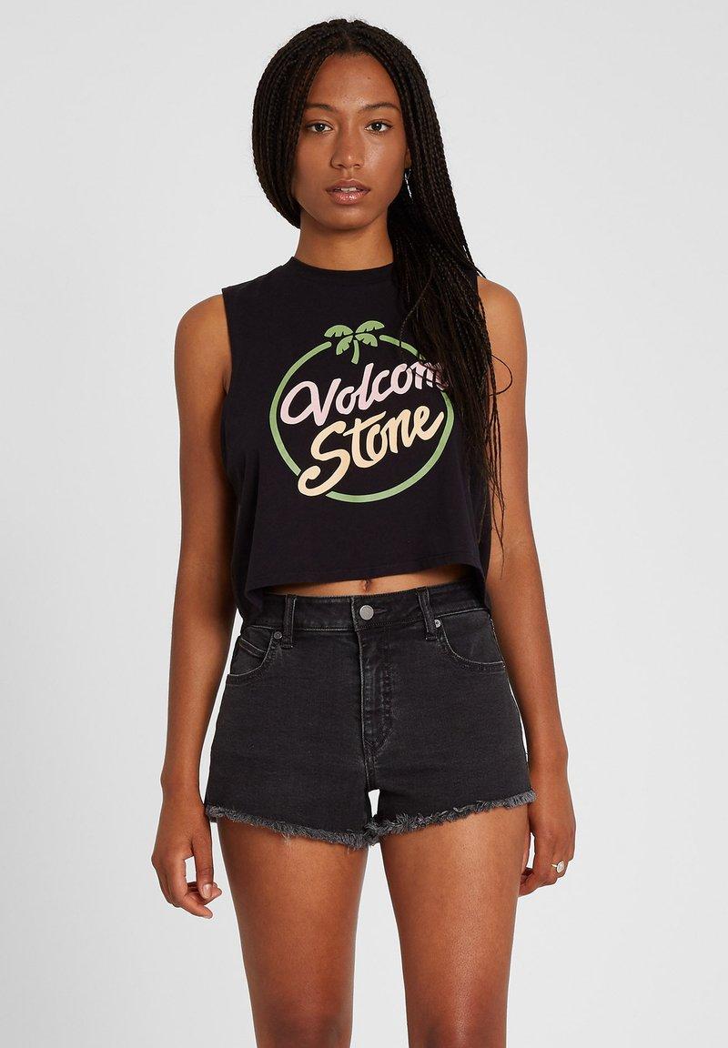 Volcom - STONEY STRETCH SHORT - Shorts - asphalt_black