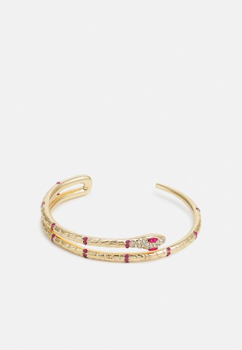 PCLAIBI BRACELET - Armbånd - gold-coloured/clear/pink