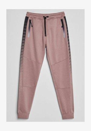 MIT SEITENSTREIFEN MIT PRINT - Tracksuit bottoms - pink