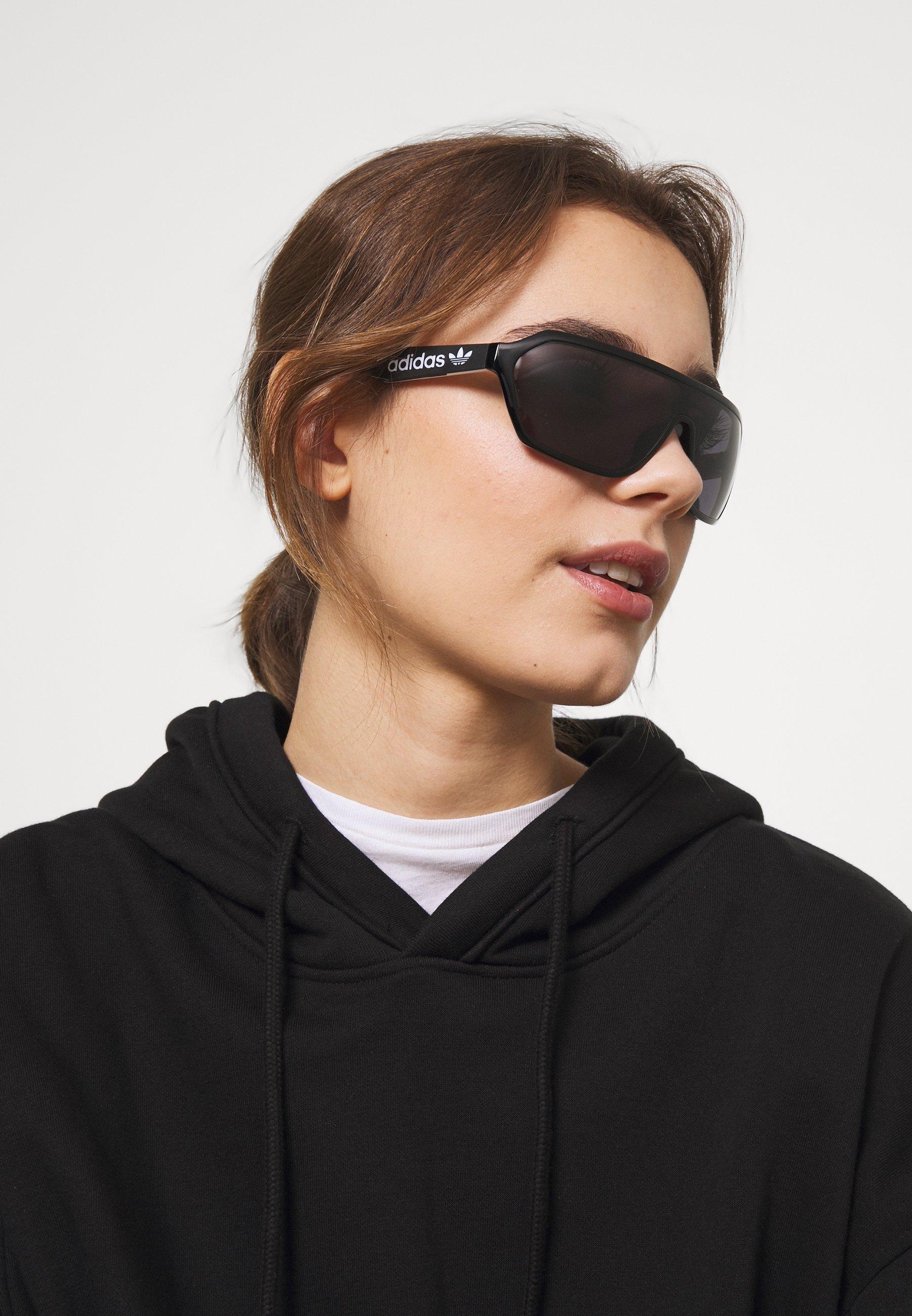 adidas Originals Lunettes de soleil - shiny black/smoke